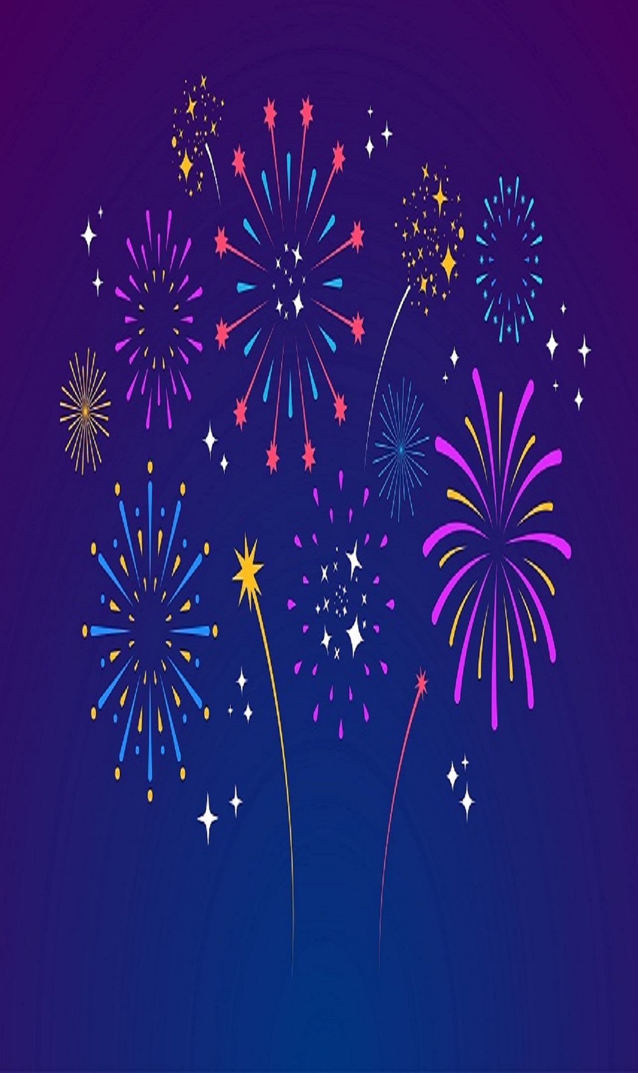 Image of cartoon fireworks
