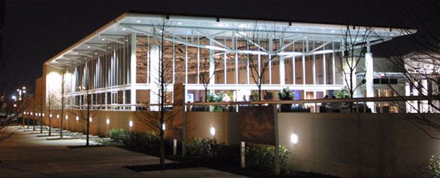 Outside of the Atrium at Night