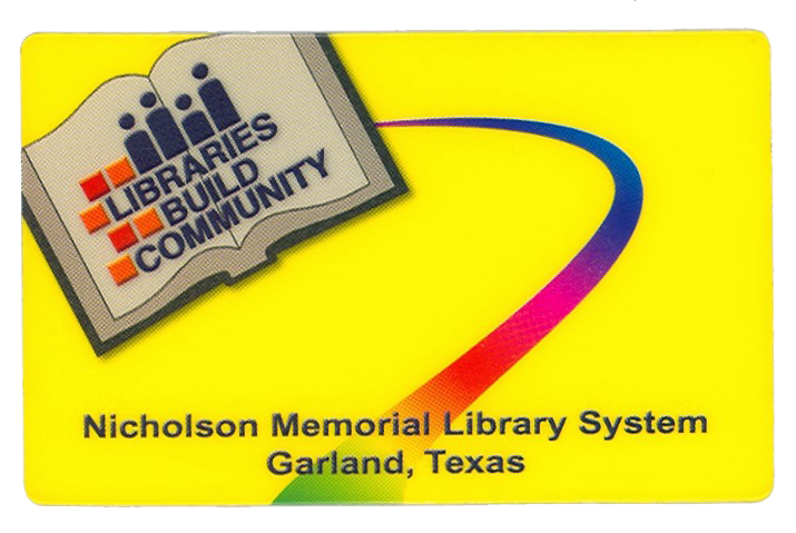 Garland yellow Library Card